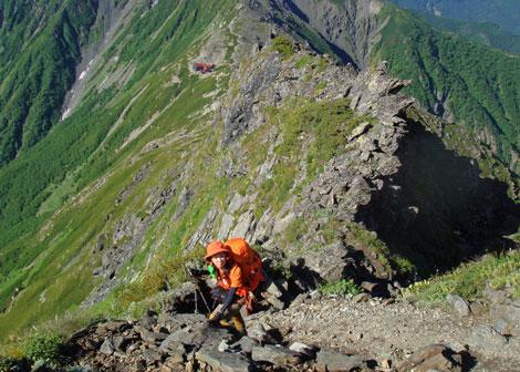 北岳の下り.jpg